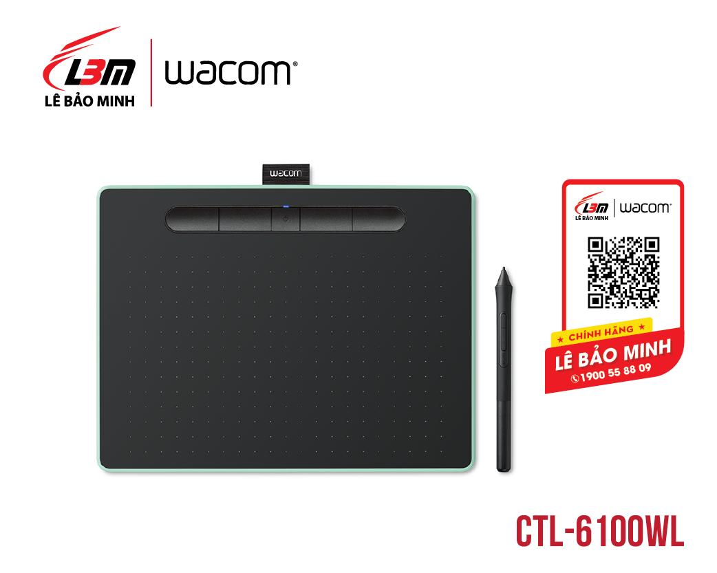 Bảng vẽ Wacom Intuos M, Bluetooth, Pistachio CTL-6100WL/E0-CX