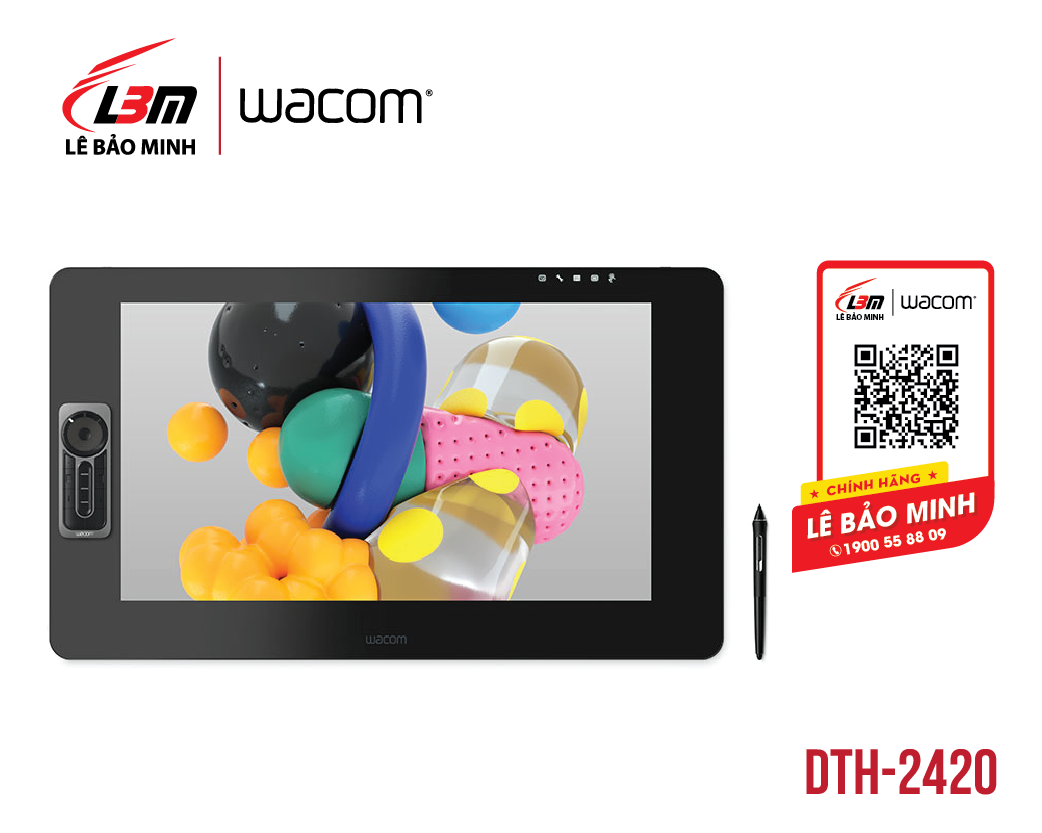 Bảng vẽ Wacom Cintiq Pro 24, Touch DTH-2420/K1-CX