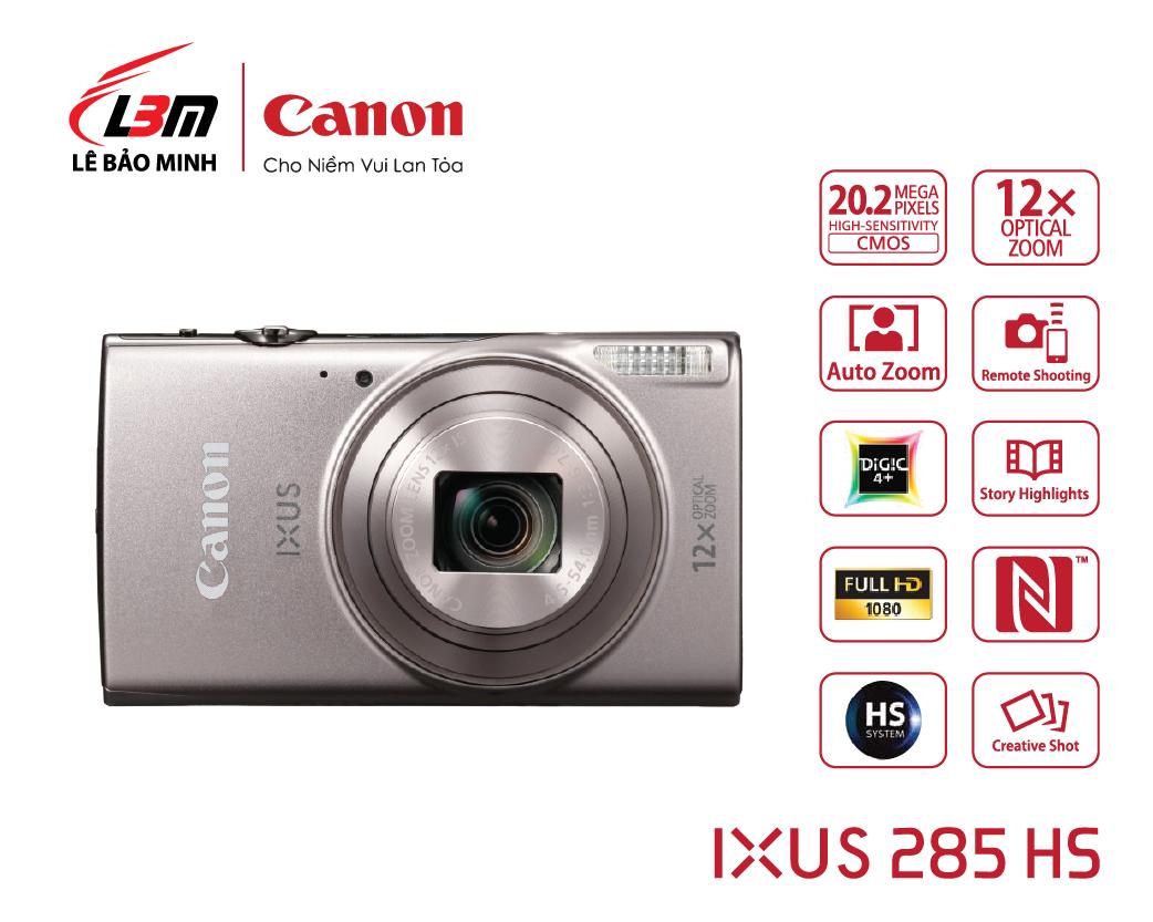Máy ảnh Canon Ixus 285 HS (Đen/Bạc)