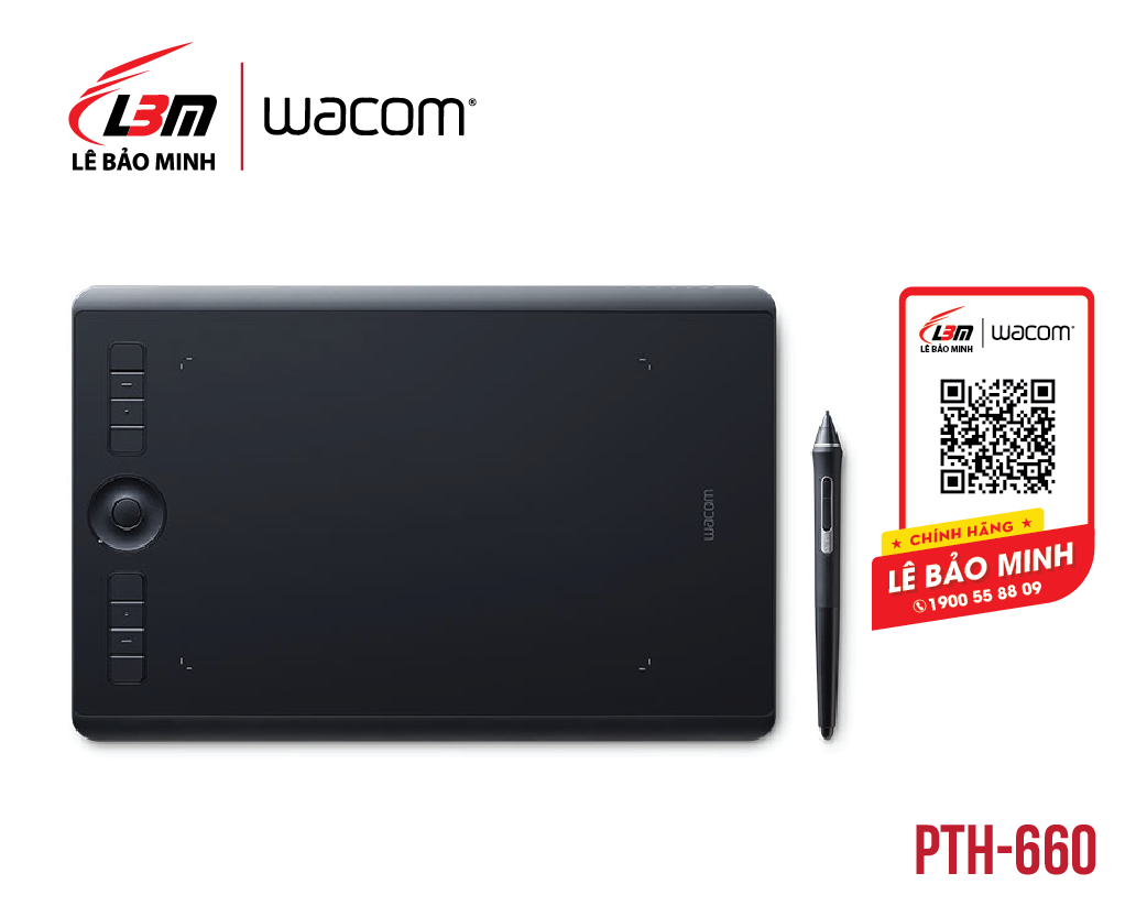 Bảng vẽ Wacom Intuos Pro Medium PTH-660/K0-CX