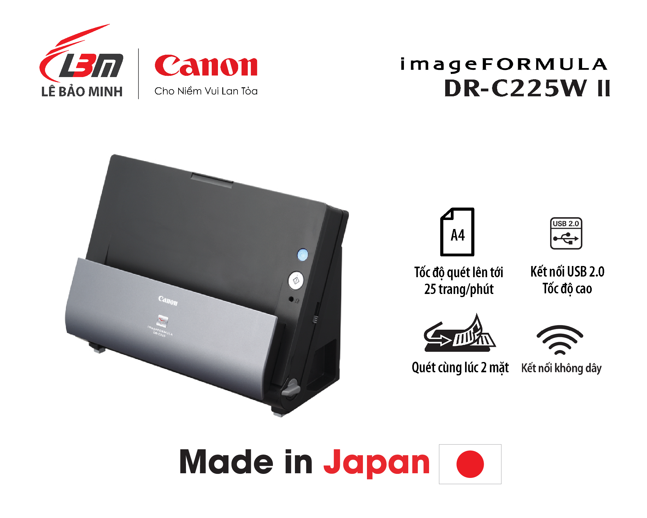 Scan Canon DR-C225W II