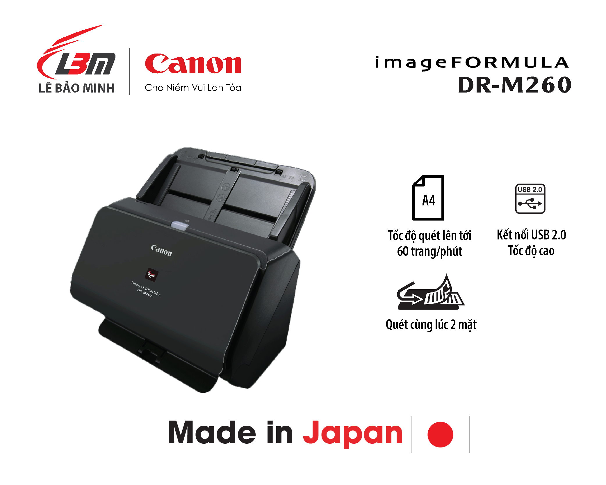 Scan Canon DR-M260
