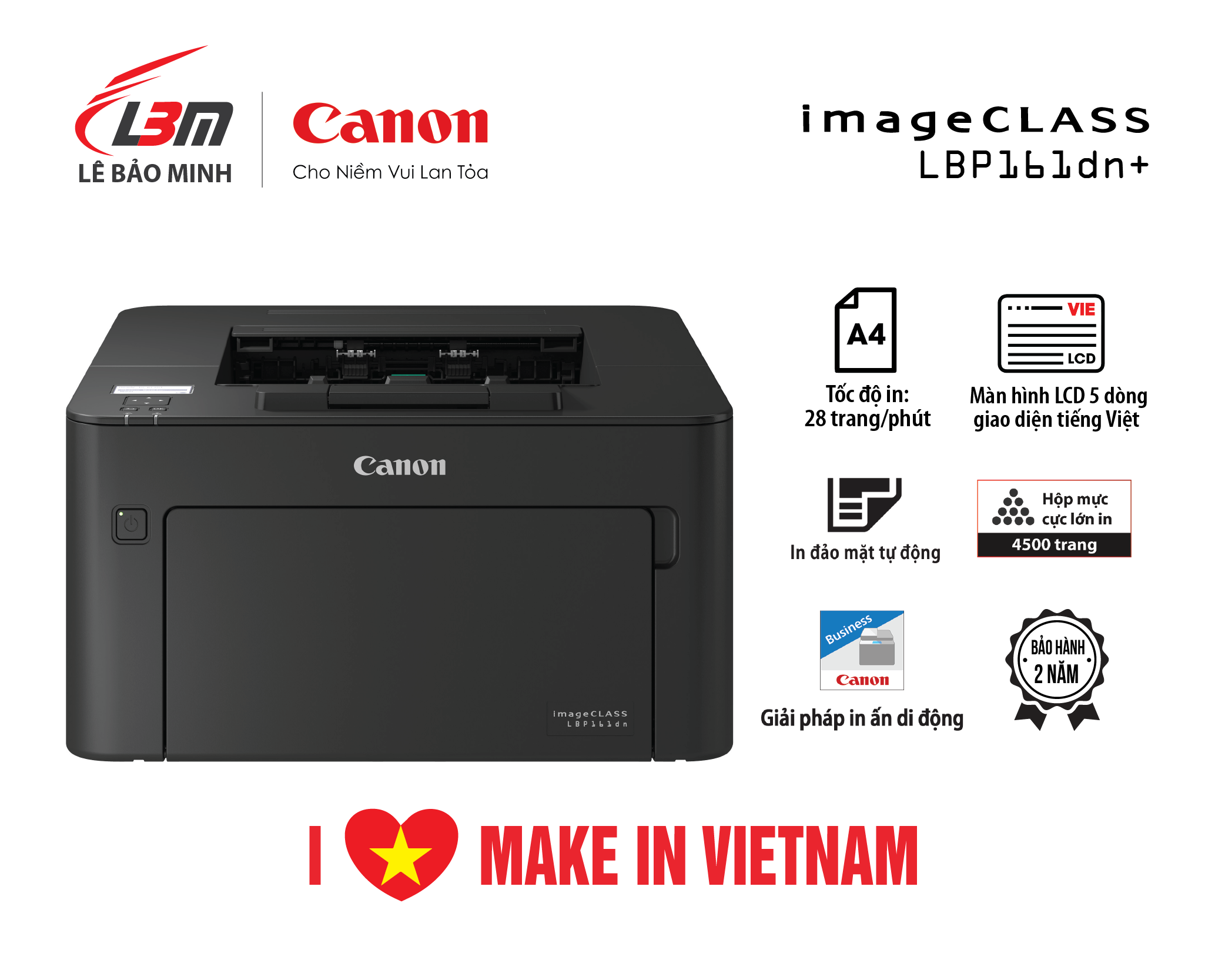 Máy in Canon LBP 161Dn+ – Hộp mực lớn