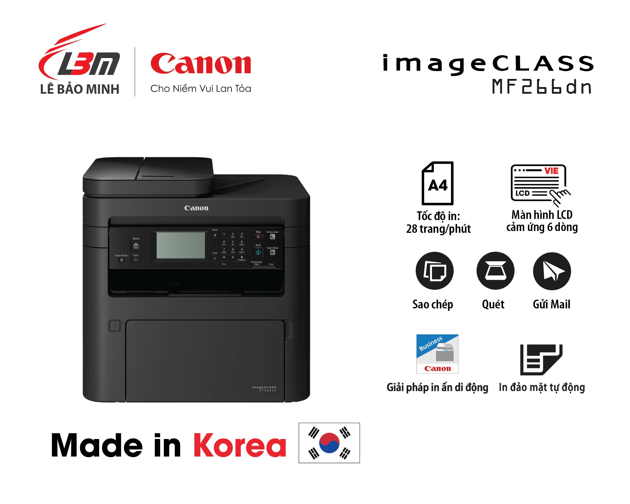 Máy in canon MF266Dn Đa năng (+Fax)