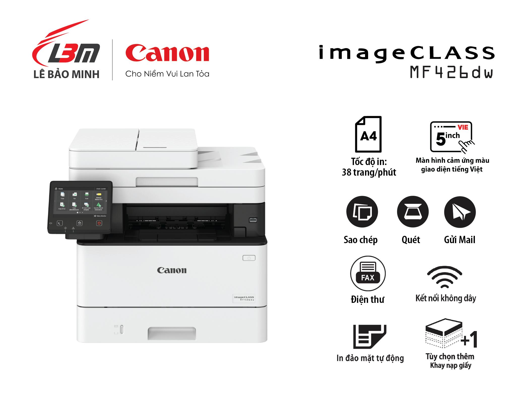Máy in Canon MF 426DW Đa năng (+Fax)