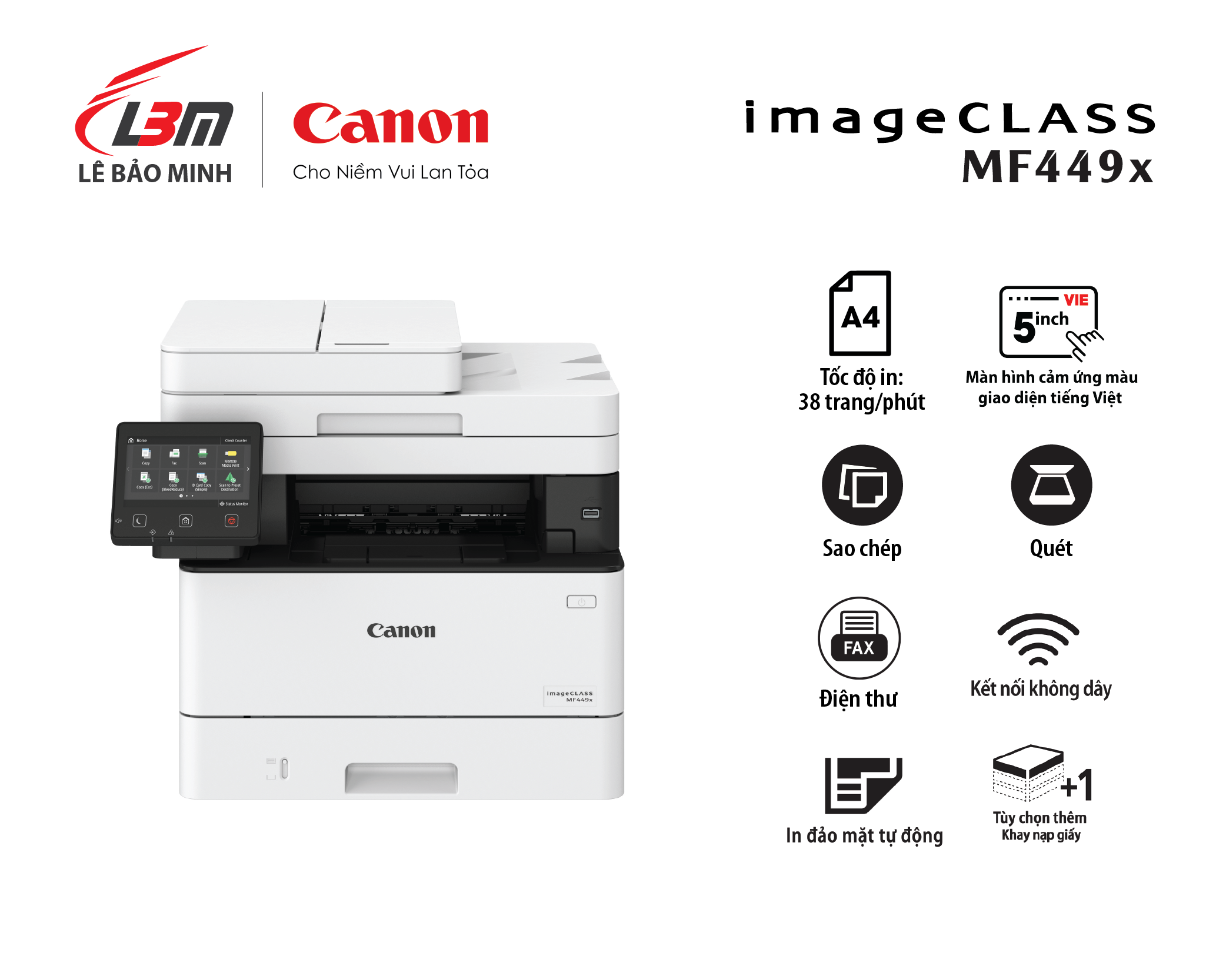 Máy in Canon MF 449x Đa năng (+Fax)