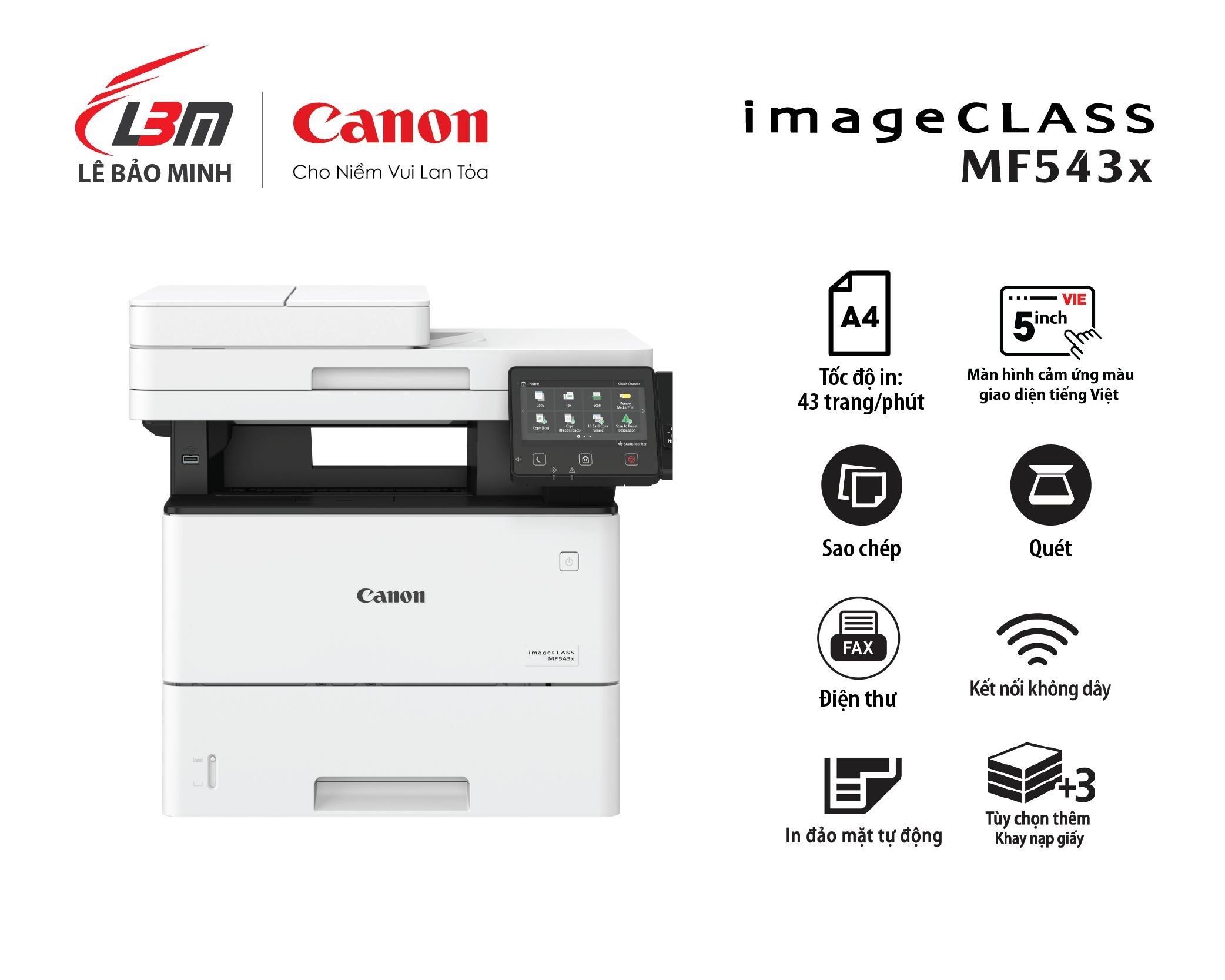 Máy in Canon MF 543x Đa năng (+Fax)
