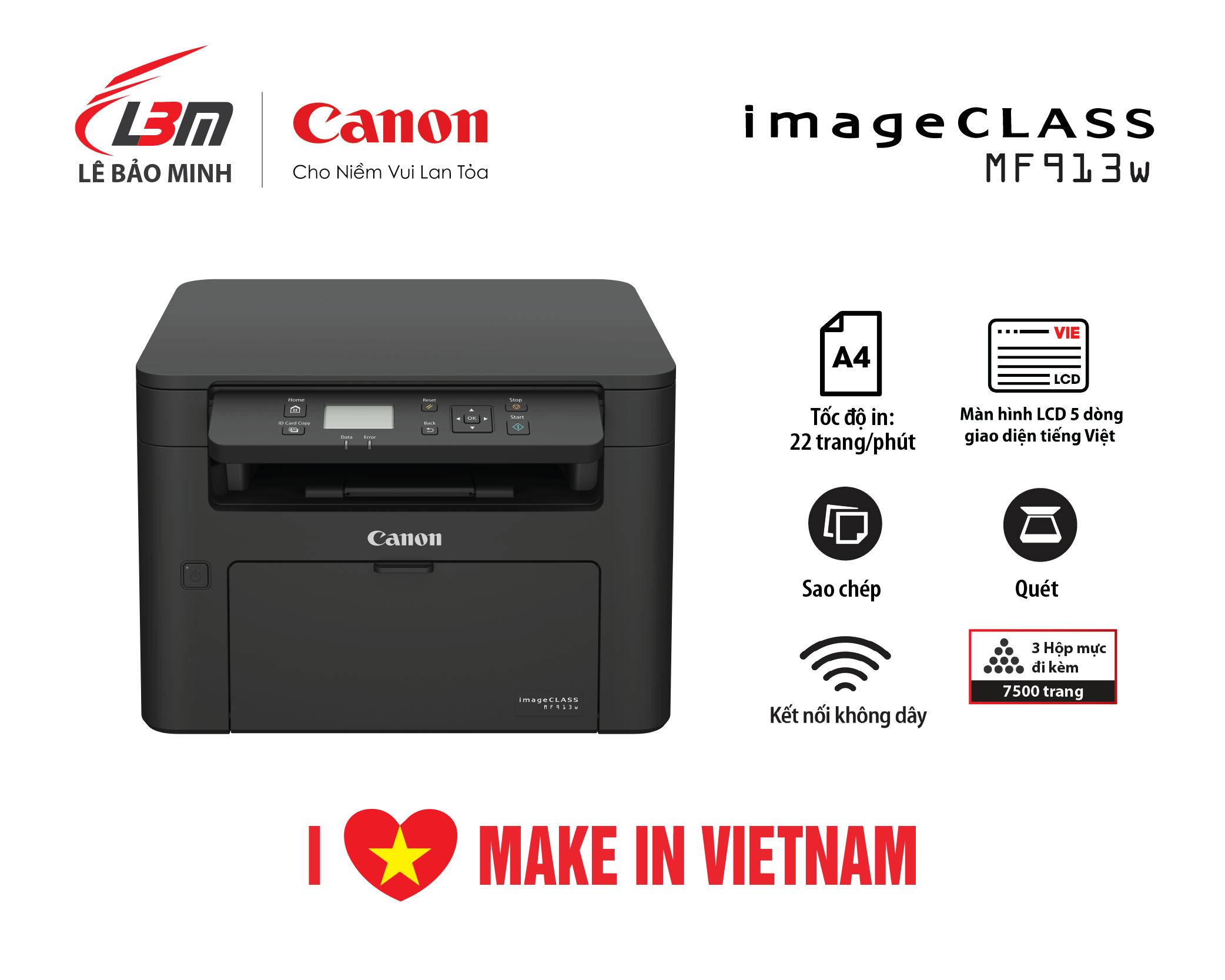 Máy in đa năng Canon MF913w