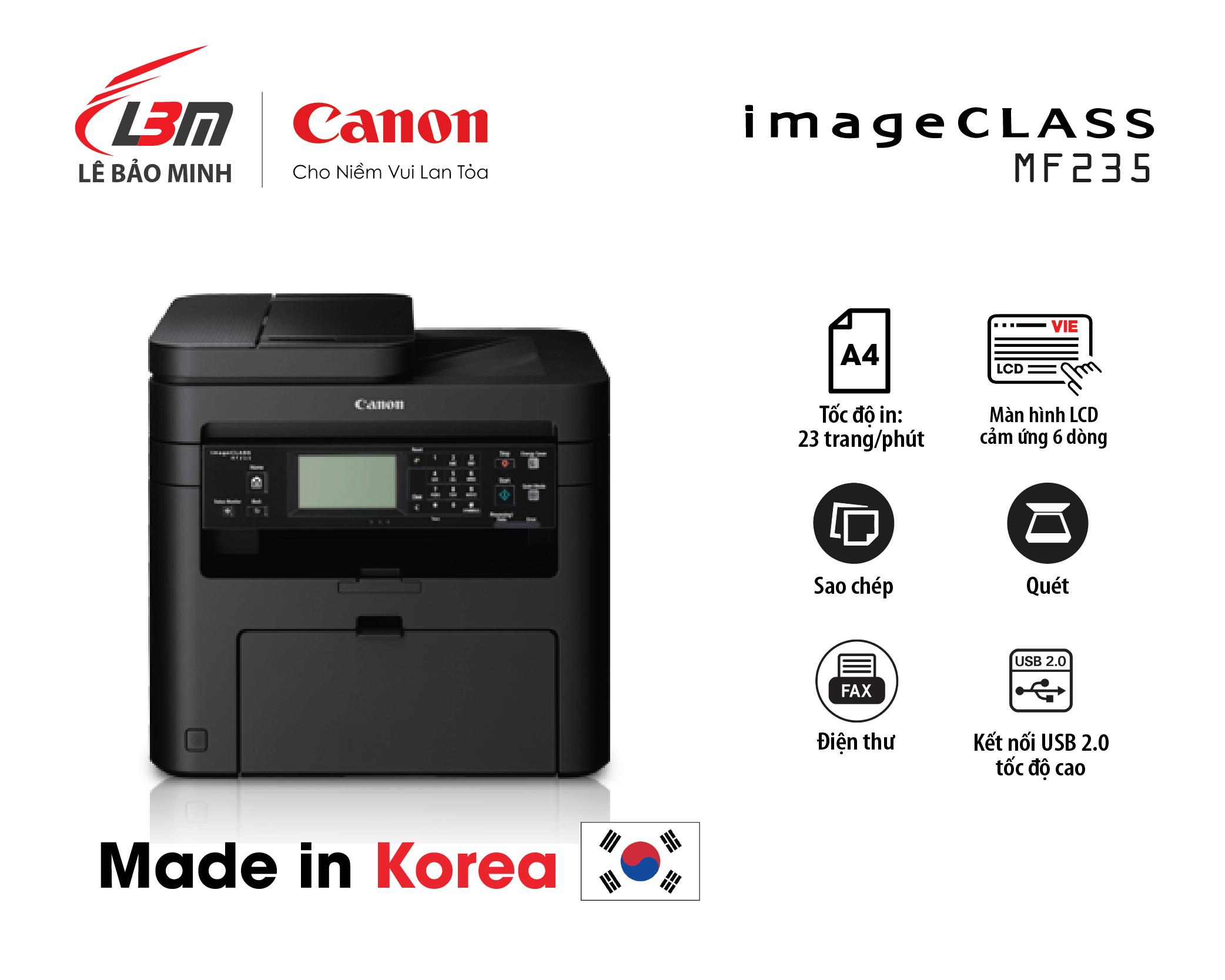 Máy in Canon MF 235 đa năng (+ Fax)