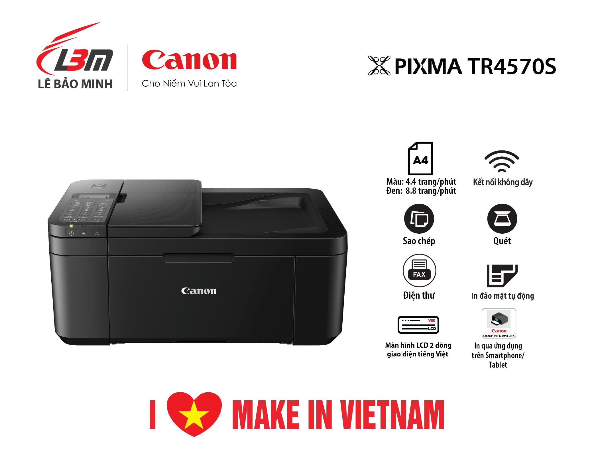 Máy in phun Canon TR4570S đa năng