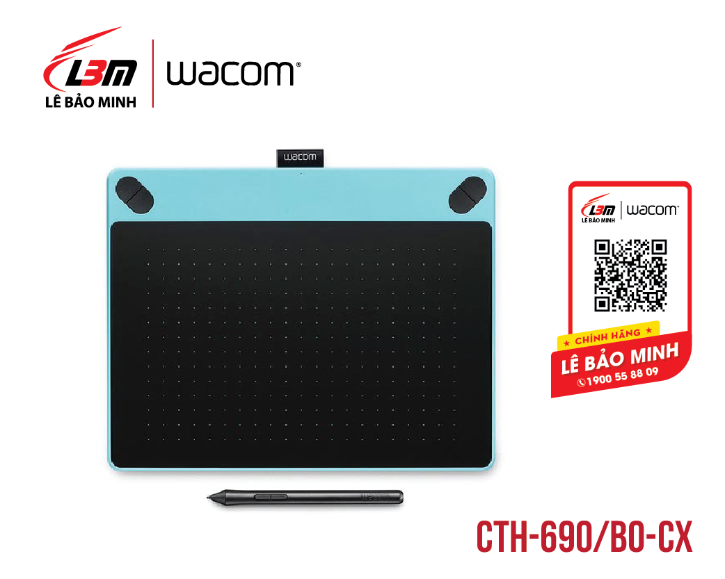 Bảng vẽ Wacom Intuos Art Medium, Mint Blue CTH-690/B0-CX