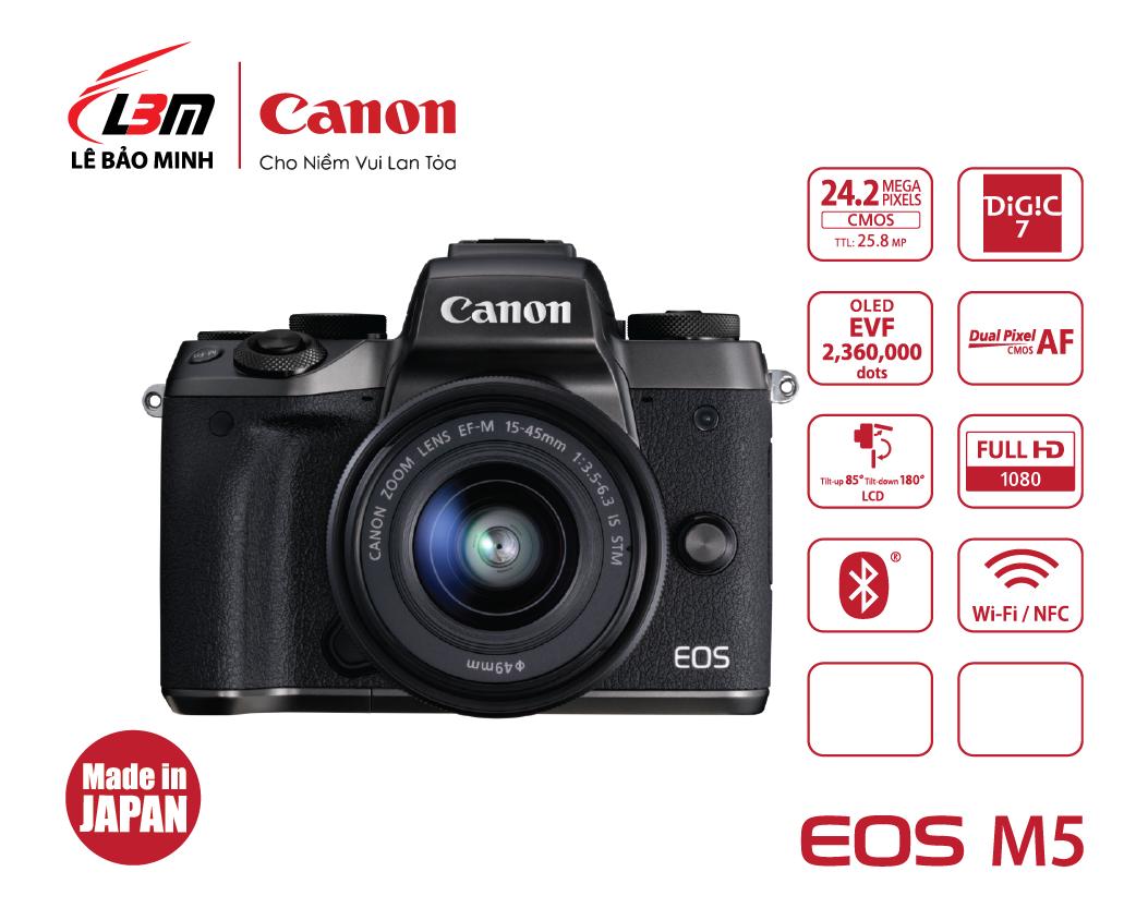 Máy ảnh Canon EOS M5 kit 15-45mm