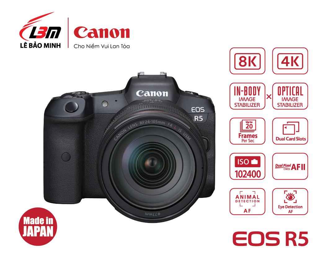 Máy ảnh Canon EOS R5 kit 24-105mm USM